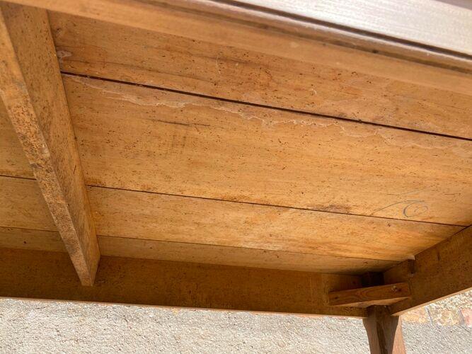 Table de ferme cuisine à repas à manger en bois massif 1950 150x79x72cm