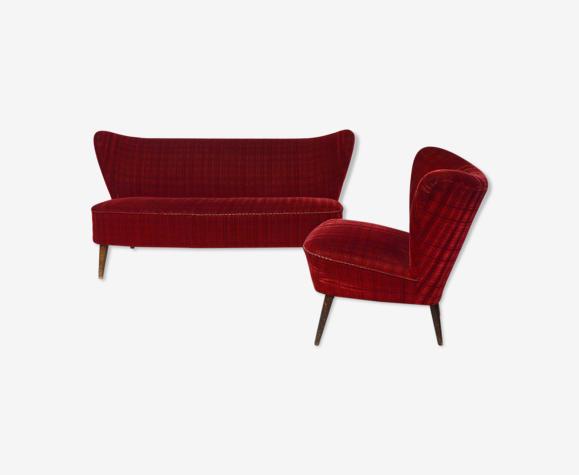 Salon cocktail vintage rouge