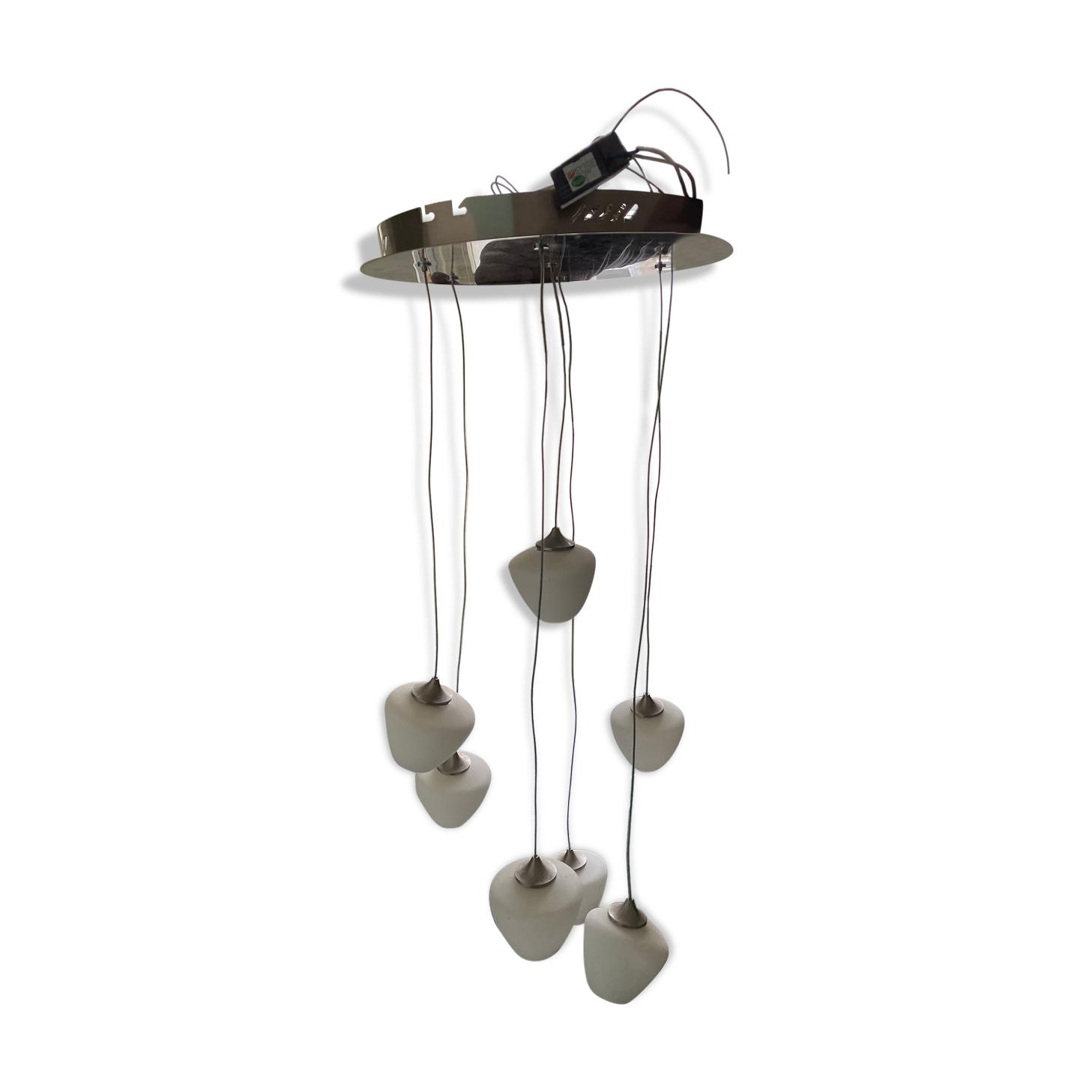 Suspension aérienne (7 leds),  métal et verre de chez Habitat, parfait état