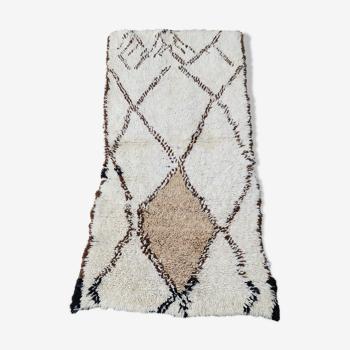 Tapis beni ouarain berbere en laine, 160x80 cm