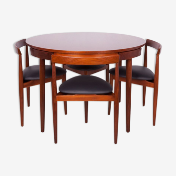 Ensemble vintage table et chaise de Frem Rolje par Hans Olsen