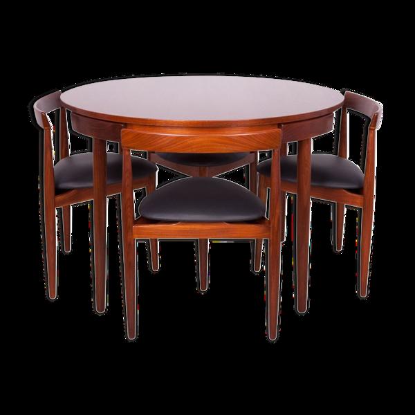 Ensemble vintage table et chaise de Frem Rolje par Hans Olsen
