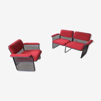 Canapé deux places un fauteuil une table basse edit talin vincenza 1970
