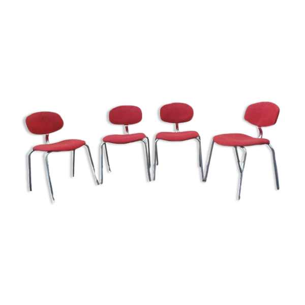 Selency Suite 4 chaises Steelcase Strafor