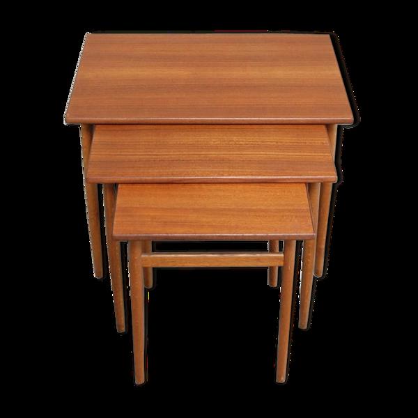 Selency Tables gigognes vintage par Tove & Edvard Kindt Larsen pour Seffle Danemark
