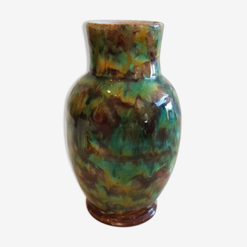Vase en terre cuite émaille céramique vintage