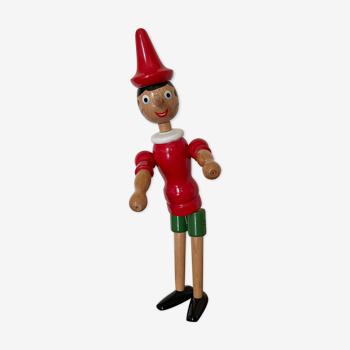 Pinocchio en bois articulé H40