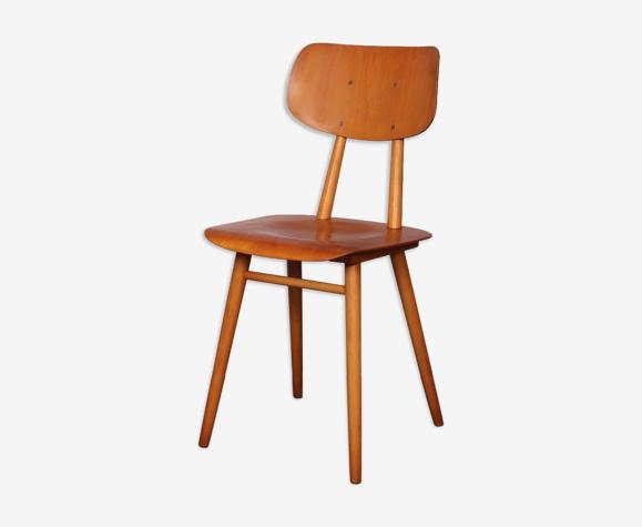 Chaise vintage en bois éditée par Ton, 1960
