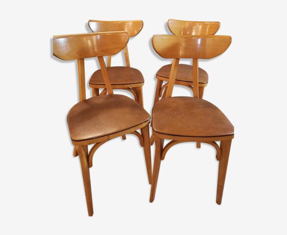 4 chaises bistrot Luterma Banane
