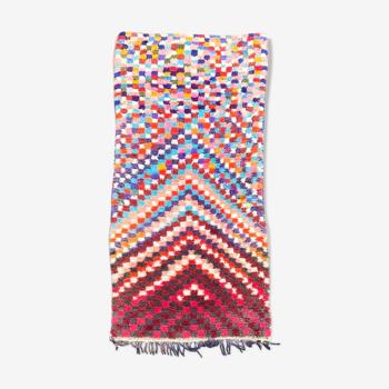Tapis berbere boucherouite 85x215 cm