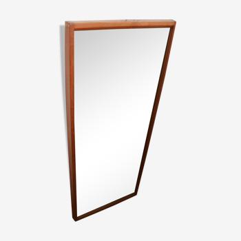 Kai Kristiansen teak mirror and produced by Aksel Kjersgaard in Odder made in Denmark, 1960/70.