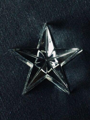 Paire de presse papiers étoiles Baccarat