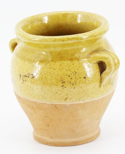 Ancien pot en terre ocre