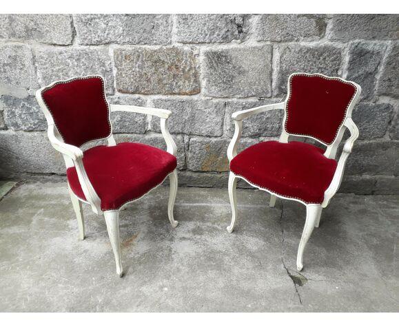 Paire de fauteuils cabriolet