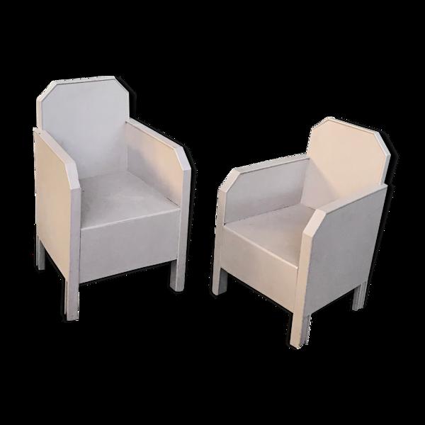 Paire de fauteuils enfants