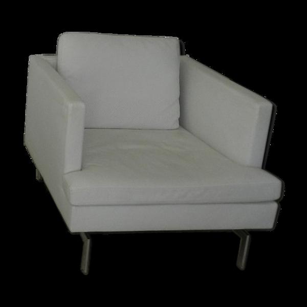 Fauteuil Cinna - designé par Didier Gomez - cuir blanc
