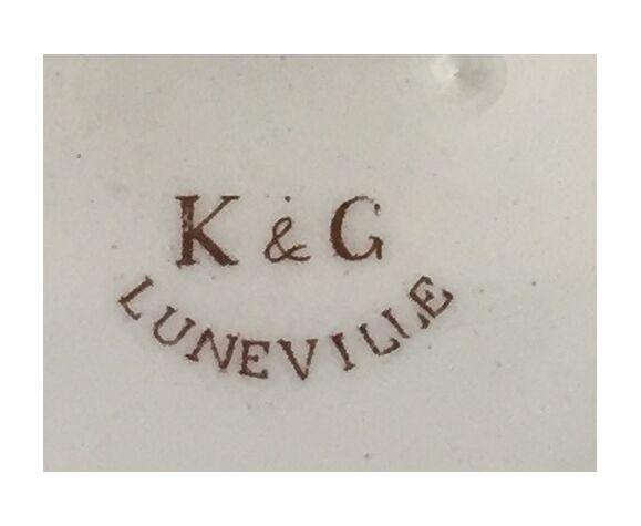 Cache pot en faïence K&G Luneville années 1930:1940
