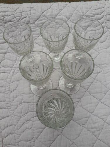 6 verres d'époque Louis-Philippe