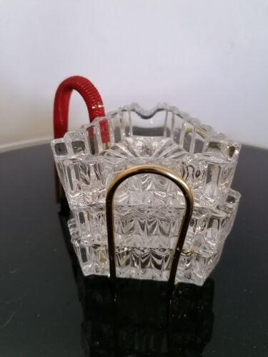 Support avec 3 cendriers verre vintage