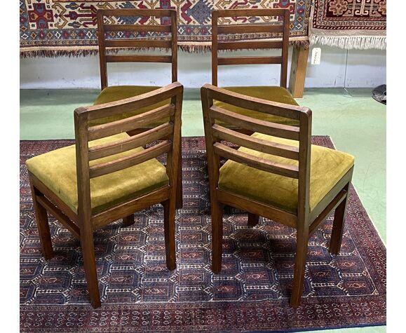 Suite de 4 chaises en acajou des années 1930
