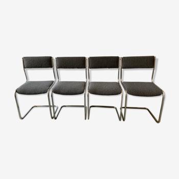 Série de 4 chaises des années 70