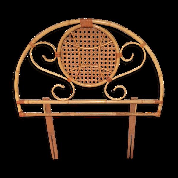 Tête de lit en rotin de bambou vintage pour lit simple