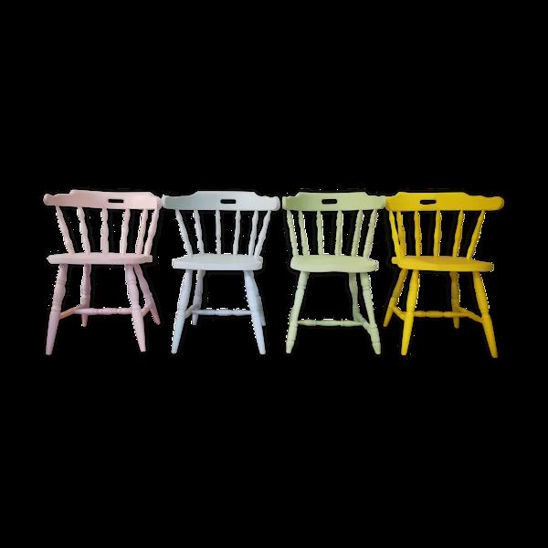 Série de 4 chaises Ranch