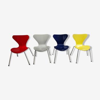 Set de 4 chaises Serie 7 Arne Jacobsen pour Fritz Hansen