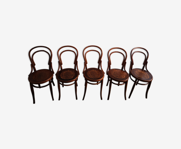 Lot de 5 chaises bistrot vintage