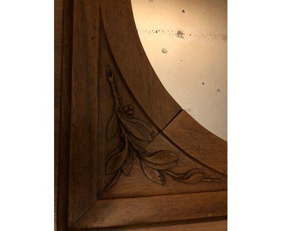 Miroir de type art déco ancien  55x55cm