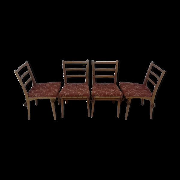 Ensemble de quatre chaises de salle à manger par Jan Van?k, 1955