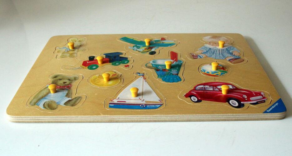 Puzzle en bois, millésime des années 1970