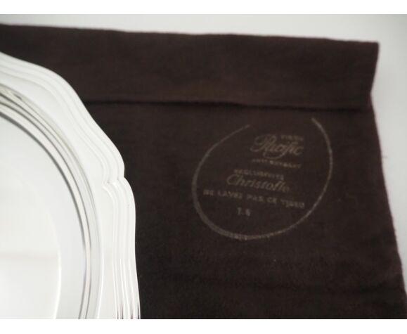 Plat creux de forme ronde – Collection Chinon filets - Christofle