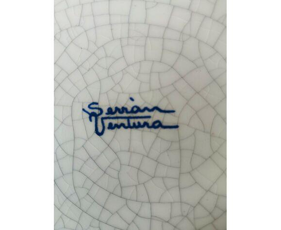 Terre cuite cendrier où vide poche signé Gaudi à Barcelone