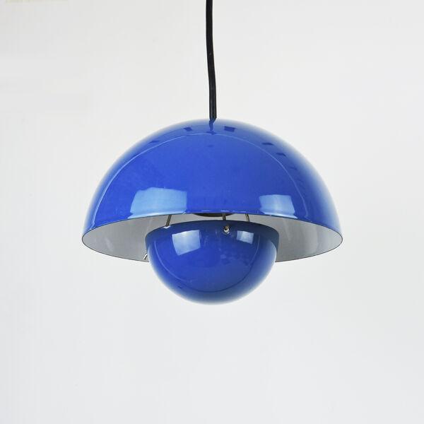 Suspension Blue Flowerpot par Verner Panton pour Louis Poulsen, années 1960