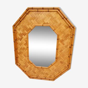 Miroir octogonal bambou vintage 73x89cm