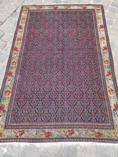 Ancien tapis d'orient fait main sena persan 2,07 x 1,35 m