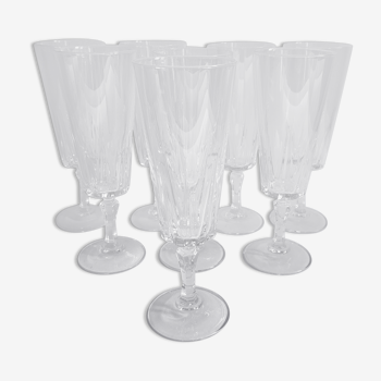 8 flûtes champagne cristal