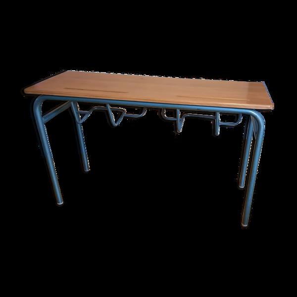 Table d'école double ou console vintage