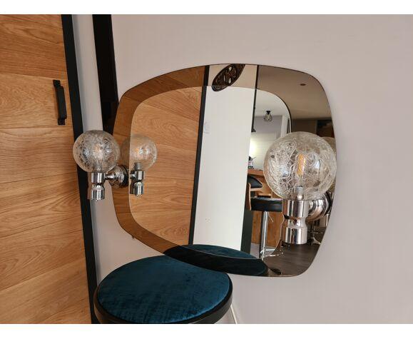 Miroir de salle de bain vintage années 80