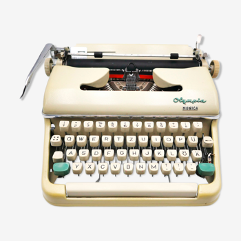 Machine à écrire olympia monica beige révisée ruban neuf