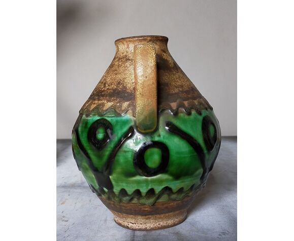 Vase à anse West-Germany années 50