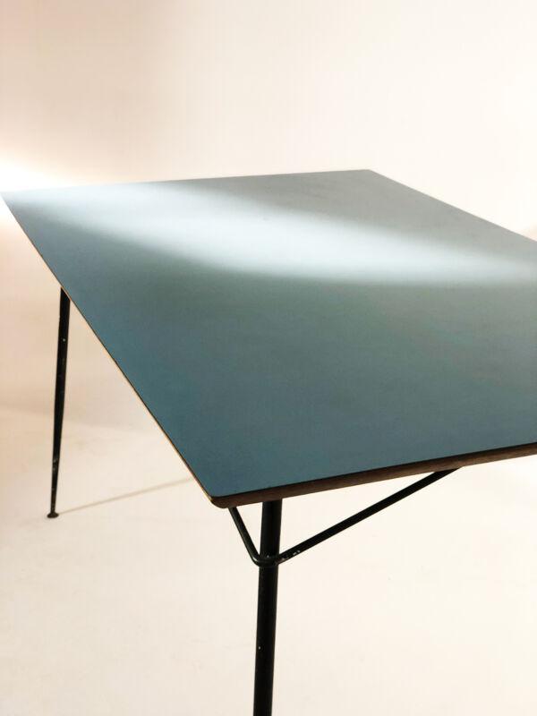 Table vintage Henry Lancel bleu