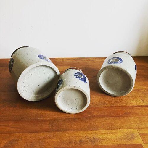 Trio de pots de conservation