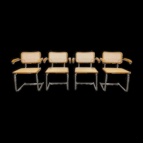 Selency Ensemble de 4 fauteuils  vintage fabriqués en Itali, années 1970
