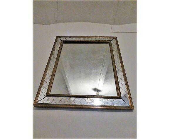 Miroir églomisé doré 1940 58x67cm