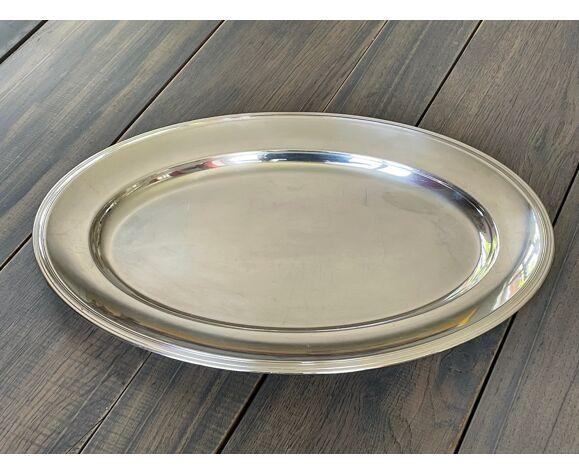 2 plats en métal argenté Christofle