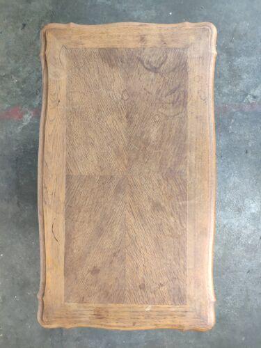 Travailleuse en chêne clair deux tiroirs Louis XV