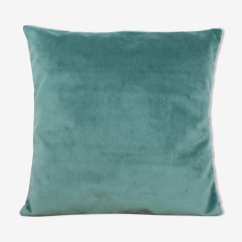 Housse de coussin velours celadon