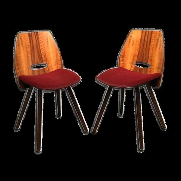 Selency Paire de chaises conçue par F. Jirak Tatra Nabytok